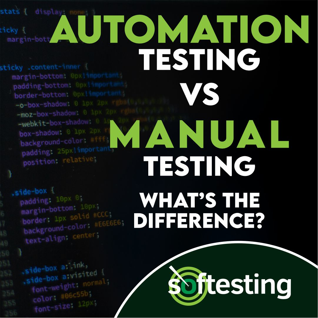automation testing vs manual testing
