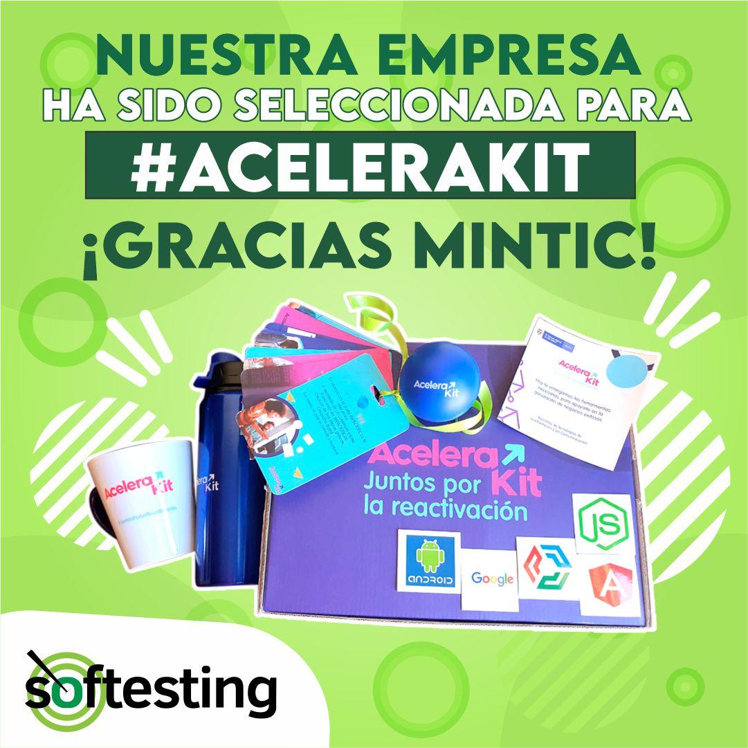 Softesting ha sido seleccionado como uno de los ganadores en la convocatoria ACELERAKIT