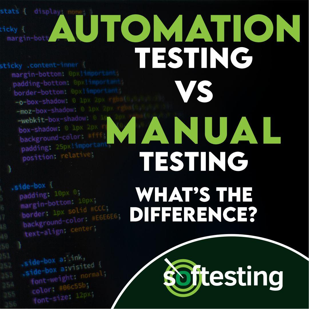 automation testing vs manual testing